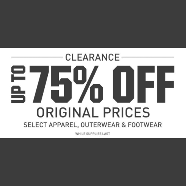 Clearance - up to 75% off