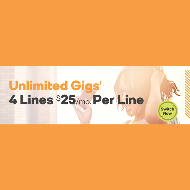 4 Lines for $25/mo. Per Line
