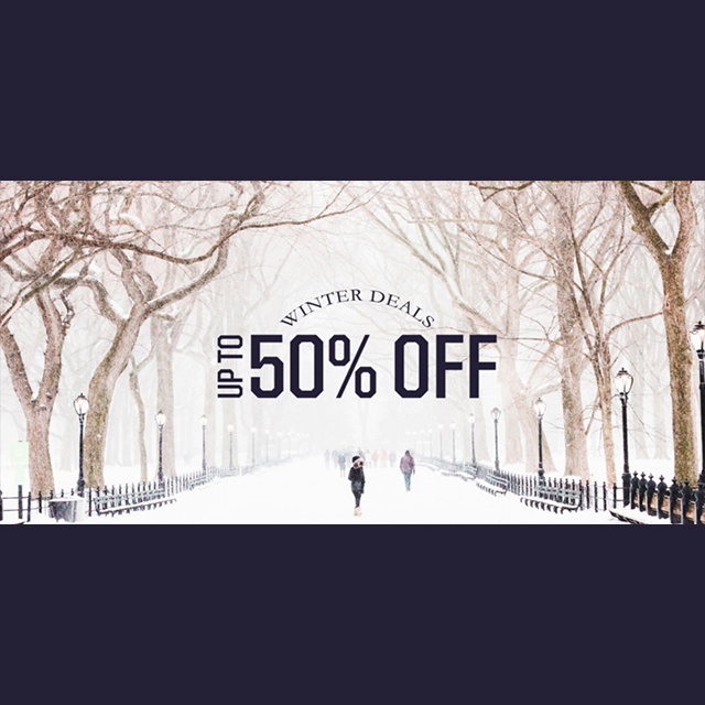 Winter Deals - up to 50% off
