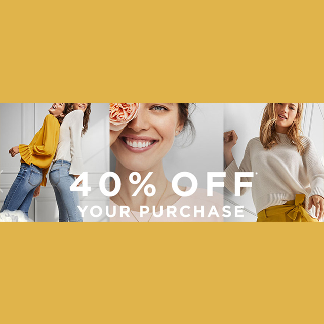 40% off Your Select Full-Price Purchase
