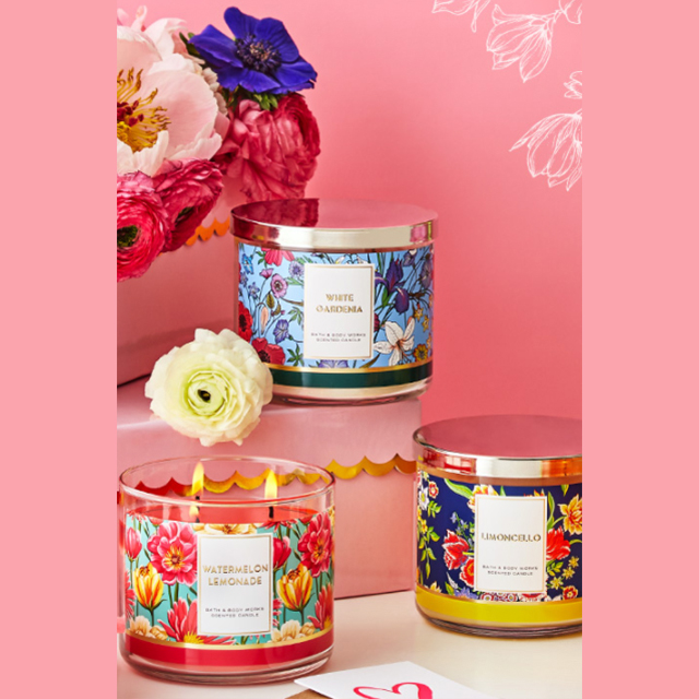 3-Wick Candles $12.95