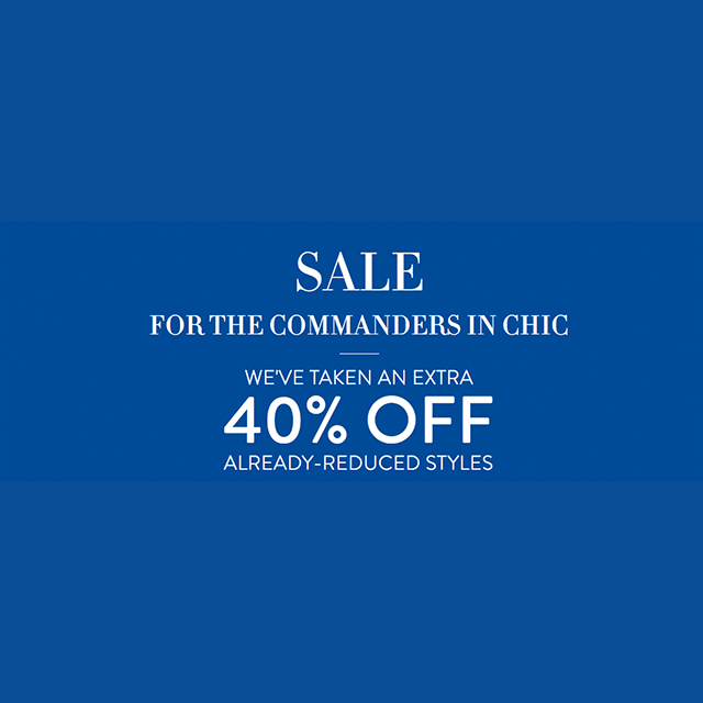 Sale - For the Commanders in Chic