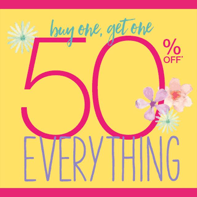 BOGO 50% off Everything
