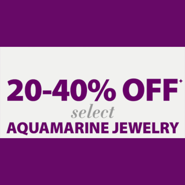 20-40% off select Aquamarine Jewelry