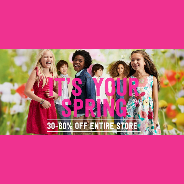 30-60% off Entire Store