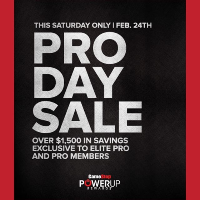PRO DAY SALE - Feb. 24th ONLY