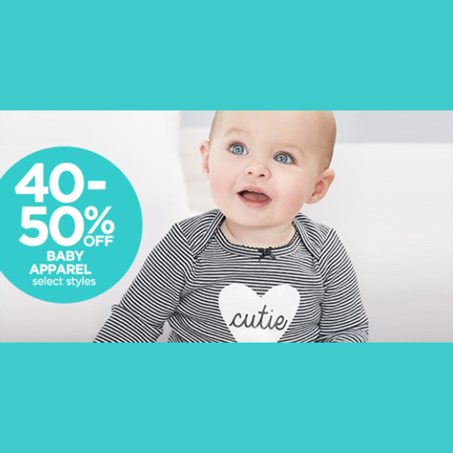 40-50% off Baby Apparel