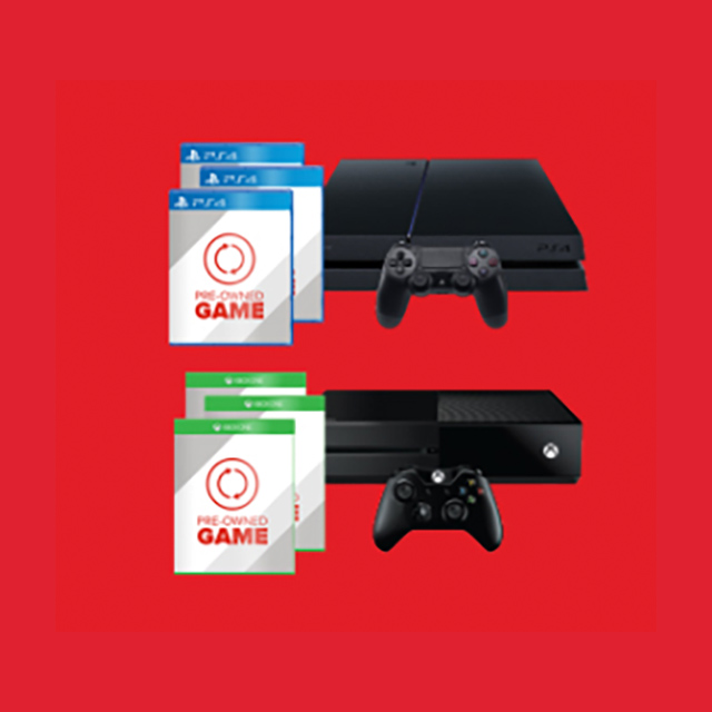 Buy Any Pre-Owned PS4 or Xbox One system to get Buy 2, Get 1 Free
