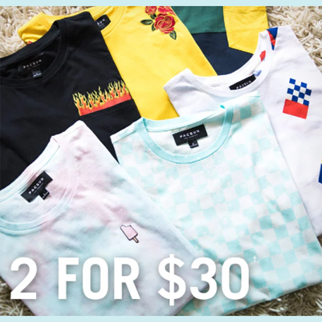 Tees - 2 for $30