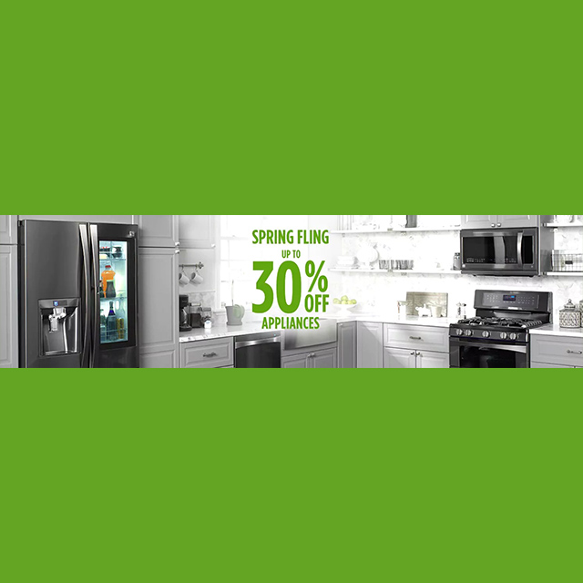 Up to 30% off Appliances