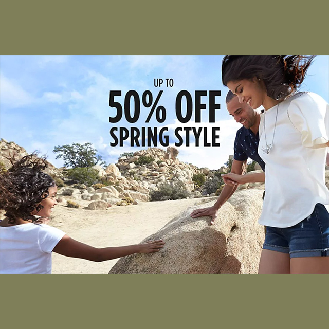 Up to 50% off Spring Style