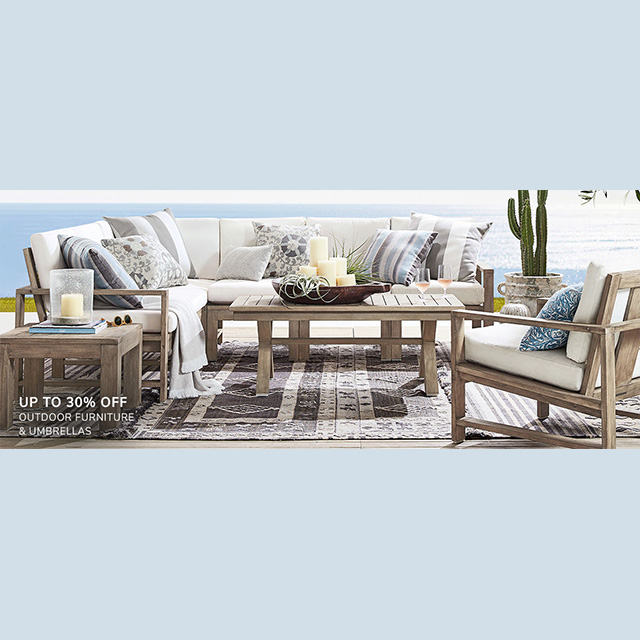 Up to 50% off Outdoor Furniture & Umbrellas