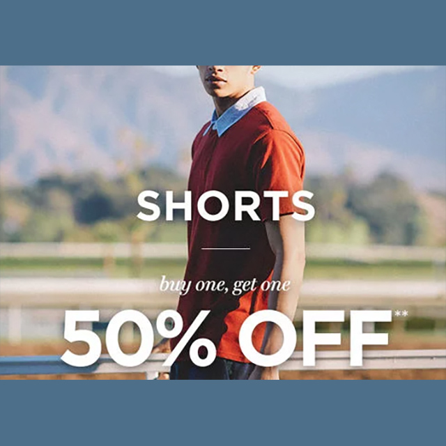 Shorts - buy 1, get 1 50% off