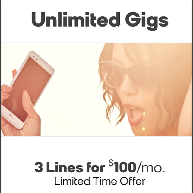 3 Lines for $100/mo.