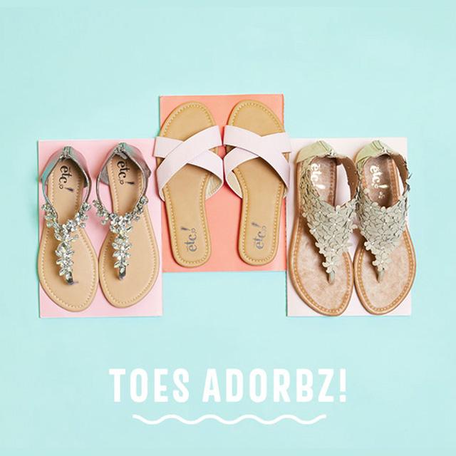 Sandals BOGO 50% off