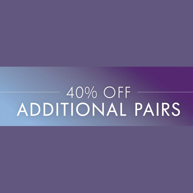 40% off Additional Pairs