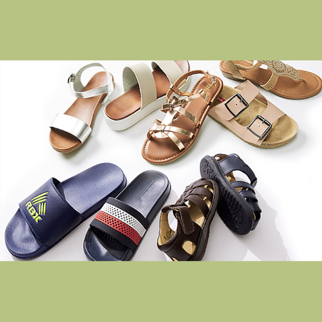 Sandals for the Family from $7.99