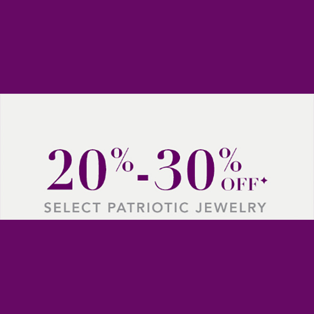20%-30% off Select Patriotic Jewelry