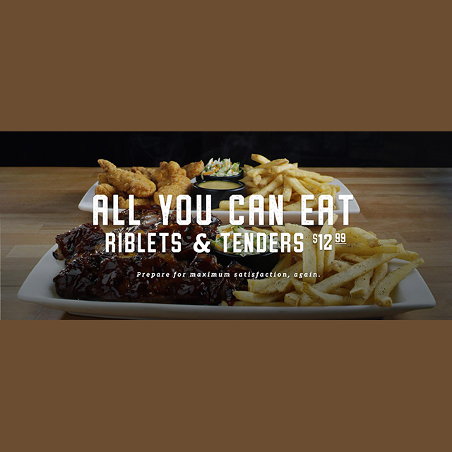 All You Can Eat Riblets & Tenders $12.99