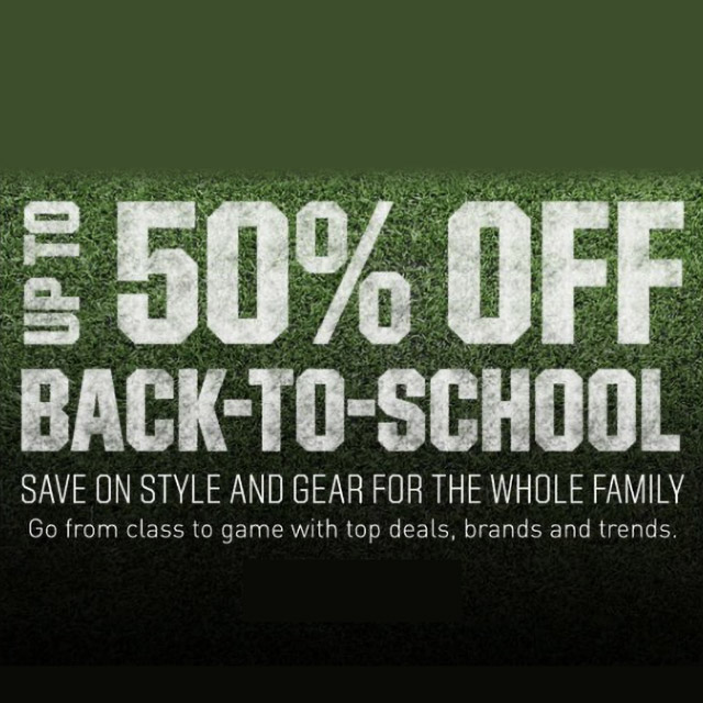 Up to 50% Off Back-To-School