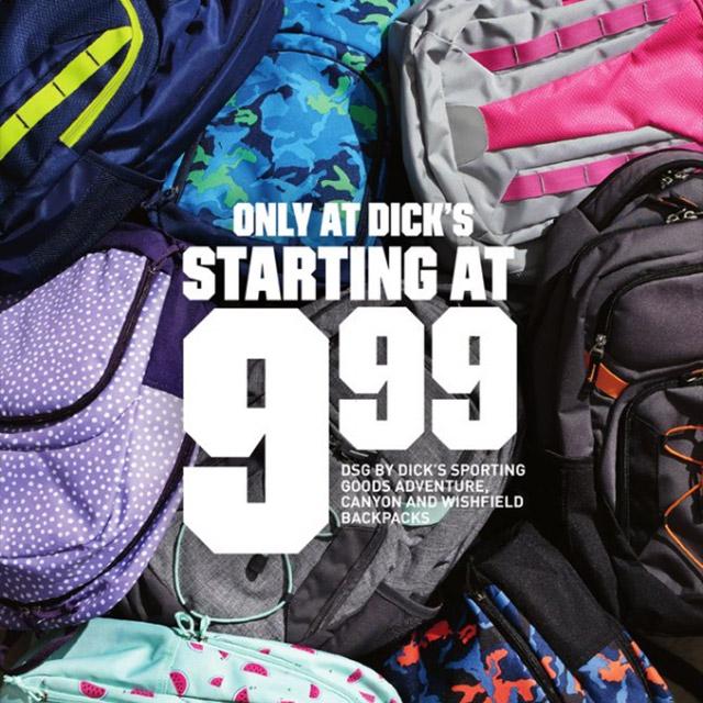 Backpacks Starting at $9.99