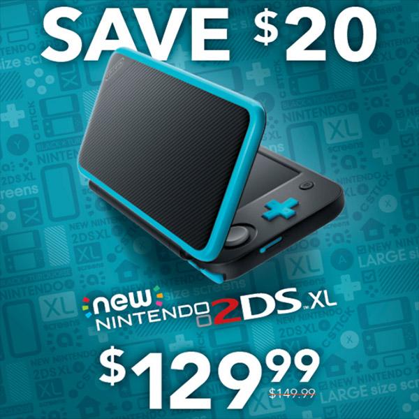 Save $20 on Nintendo 2DSxl