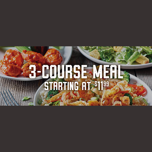3-Course Meal Starting at $11.99