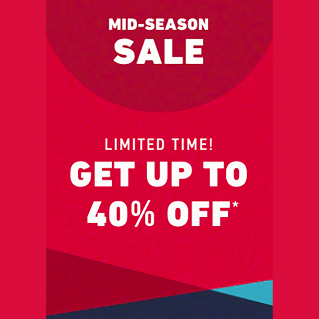 Sale up to 40% off