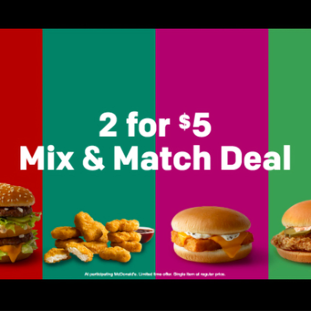 2 for $5 Mix & Match Deal