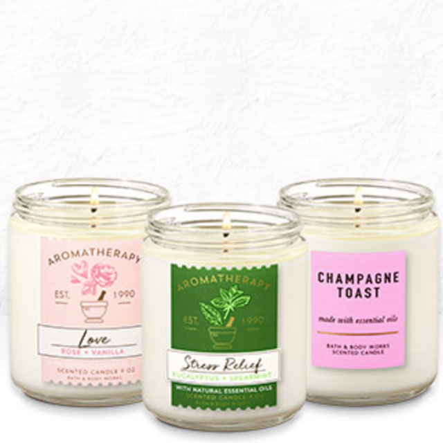 Single Wick Candles 2/$18