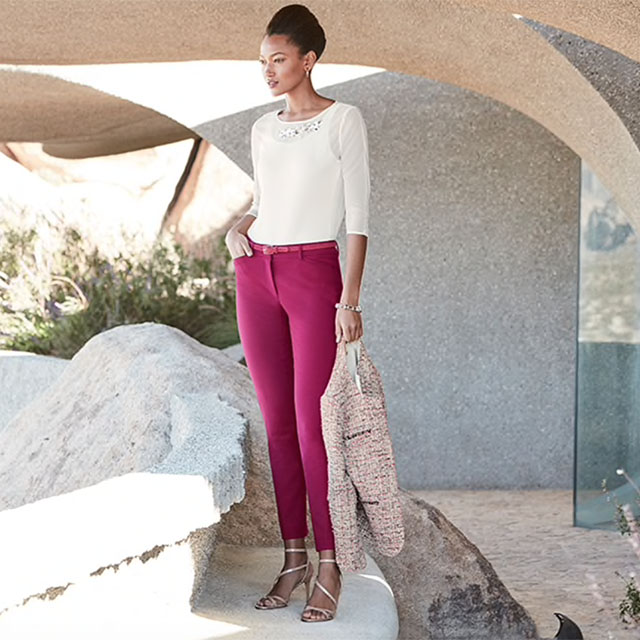 The Comfort Stretch Slim Ankle Pant $59