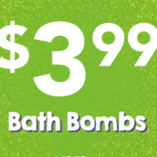 $3.99 Bath Bombs