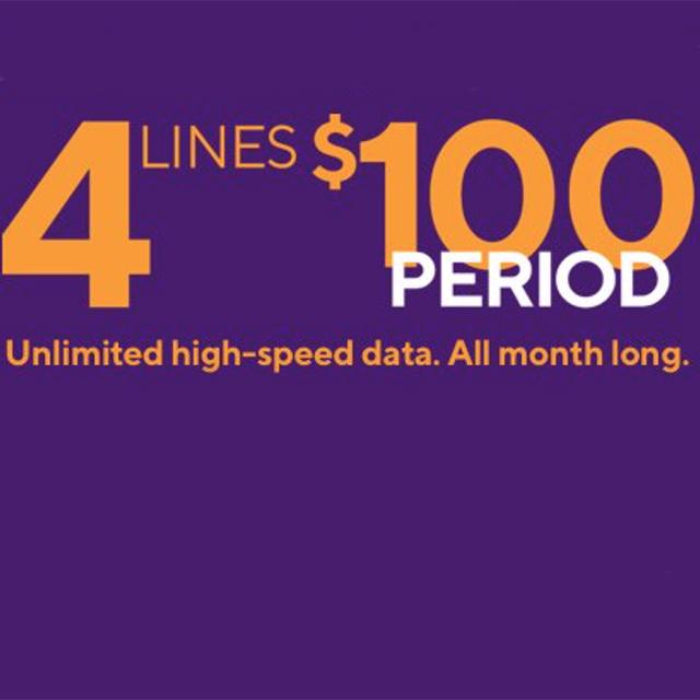 4 Lines. $100 Period.