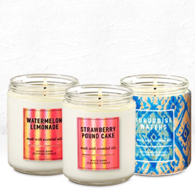 Single Wick Candles 2/$20
