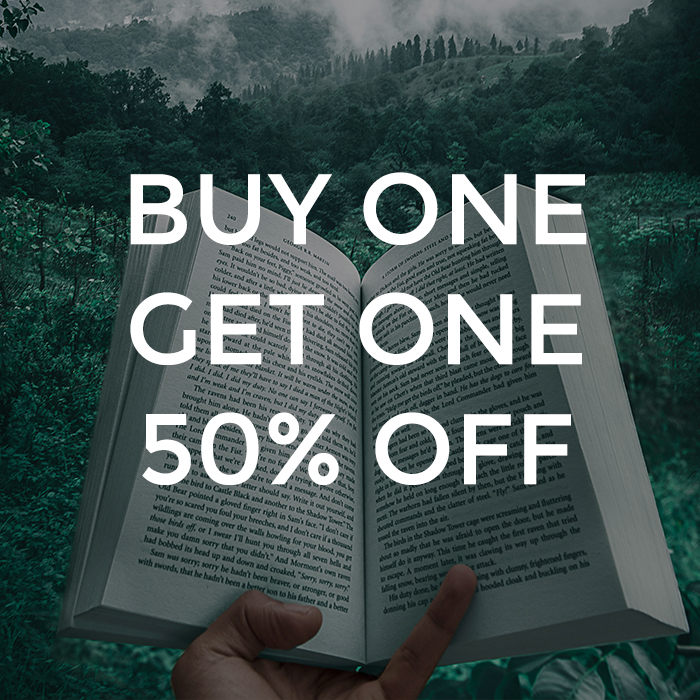 Books of the Month BOGO 50%