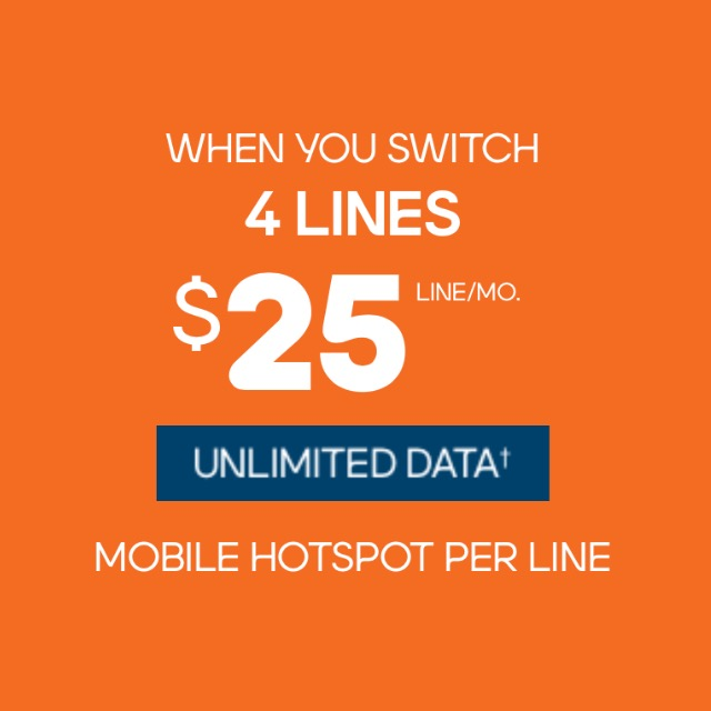 4 lines for $100/mo.